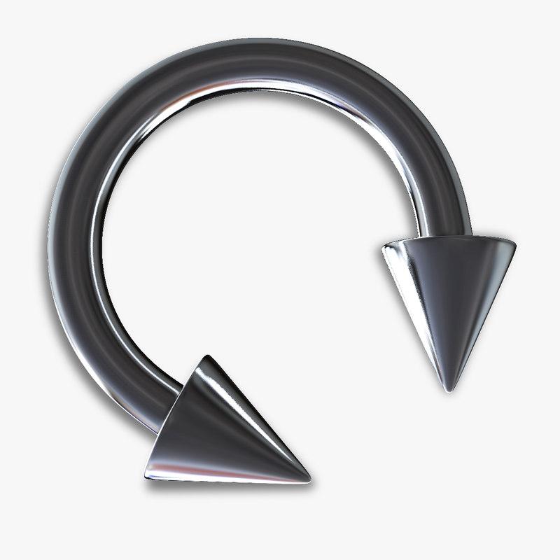 3ds horseshoe piercing cone