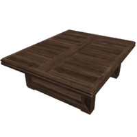 garden wooden table 3d model