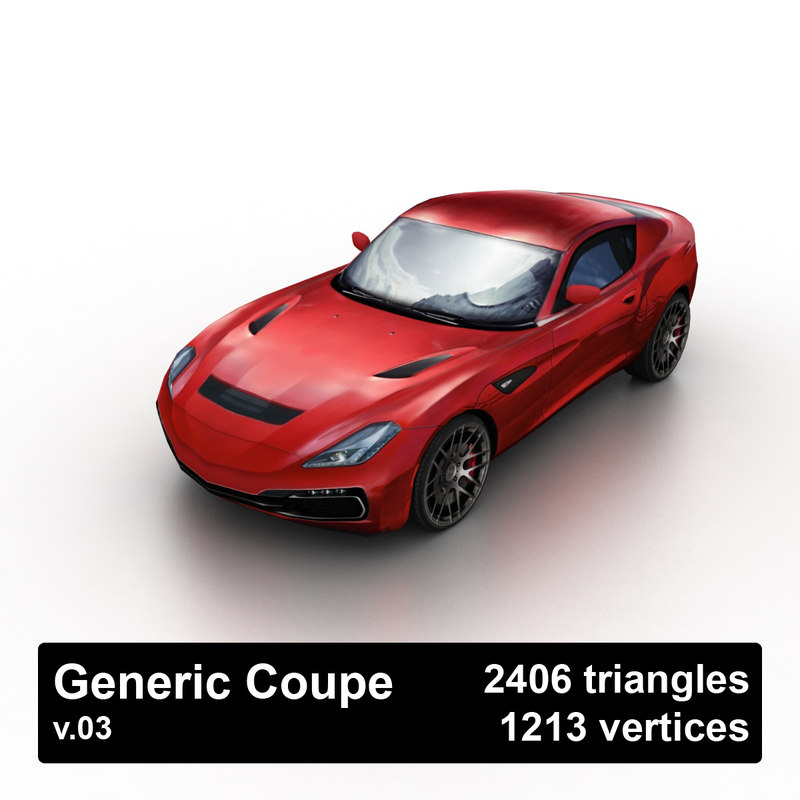 generic coupe 3d model