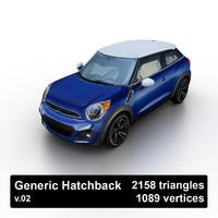 3d generic hatchback model