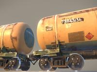 3d railway oil tank