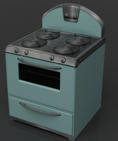 3d model of retro stove