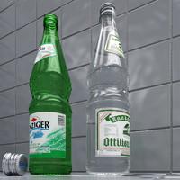 water bottles 3d max