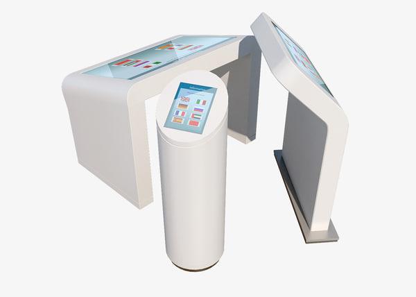 3d model electronic kiosk