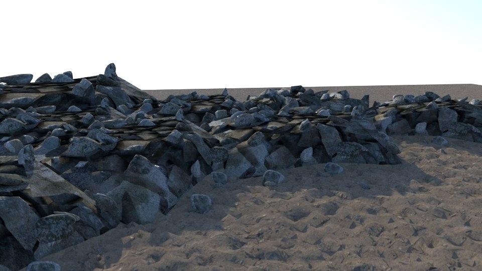 rocks pile obj