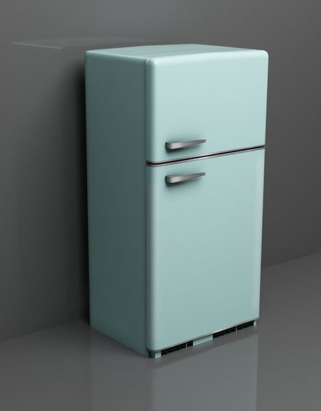 retro fridge obj