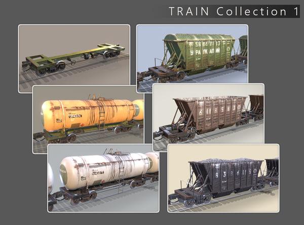 3d railway 1 model