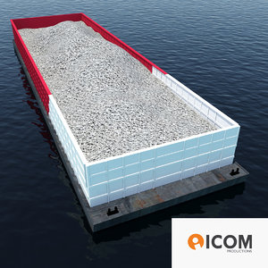 3d aggregate barge