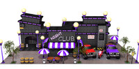 cartoon building 3d fbx
