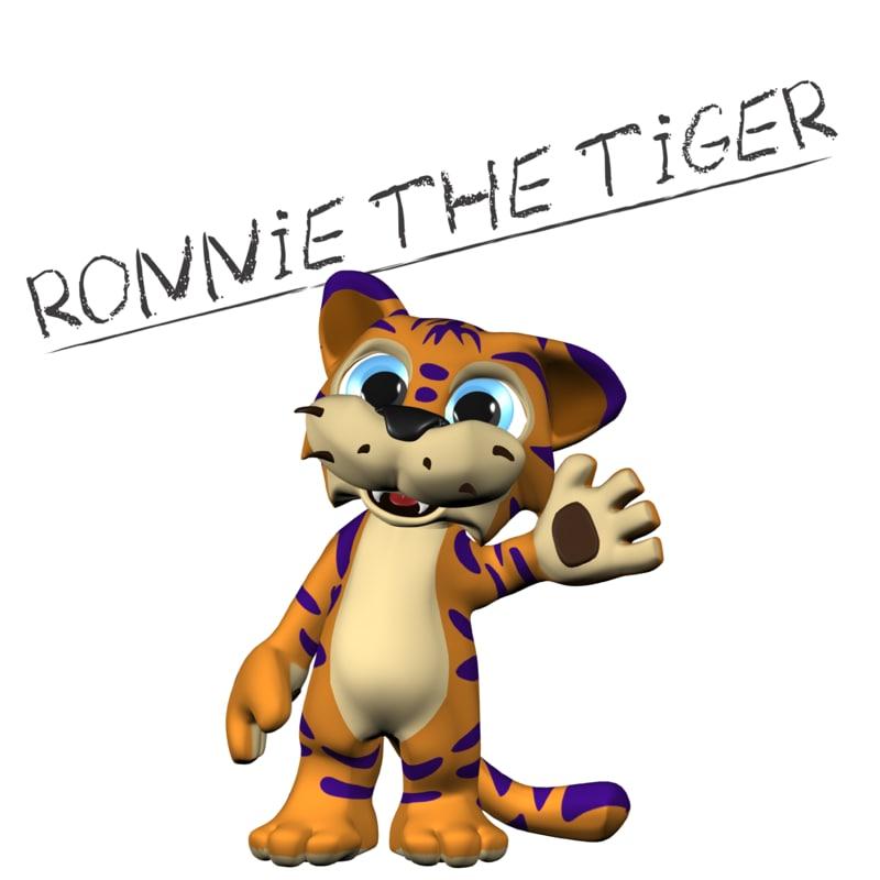 3d ronnie tiger cat