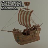 lowpoly ship3