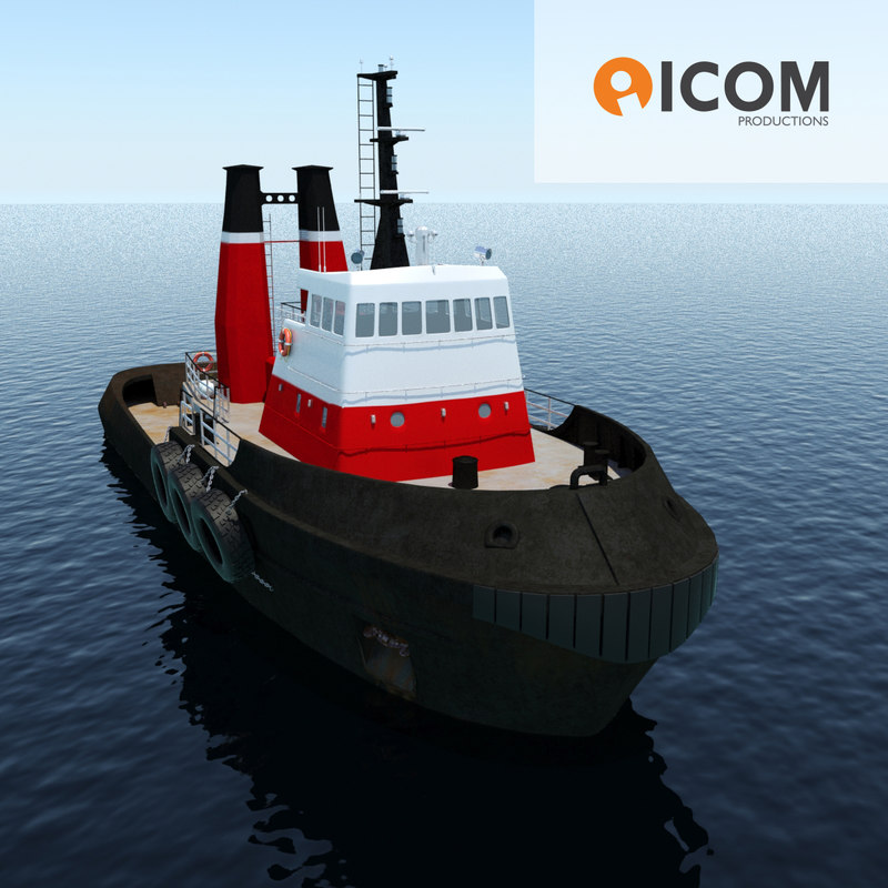 tugboat type twin screw 3d 3ds