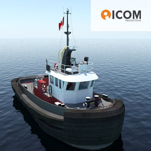 3d max tugboat type twin screw