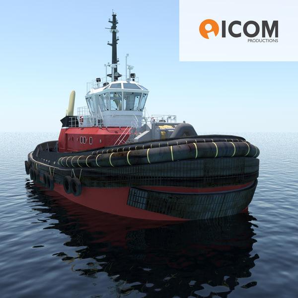 3d model tugboat type z-peller length