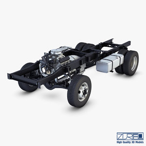 truck chassis 4x4 v 3d max