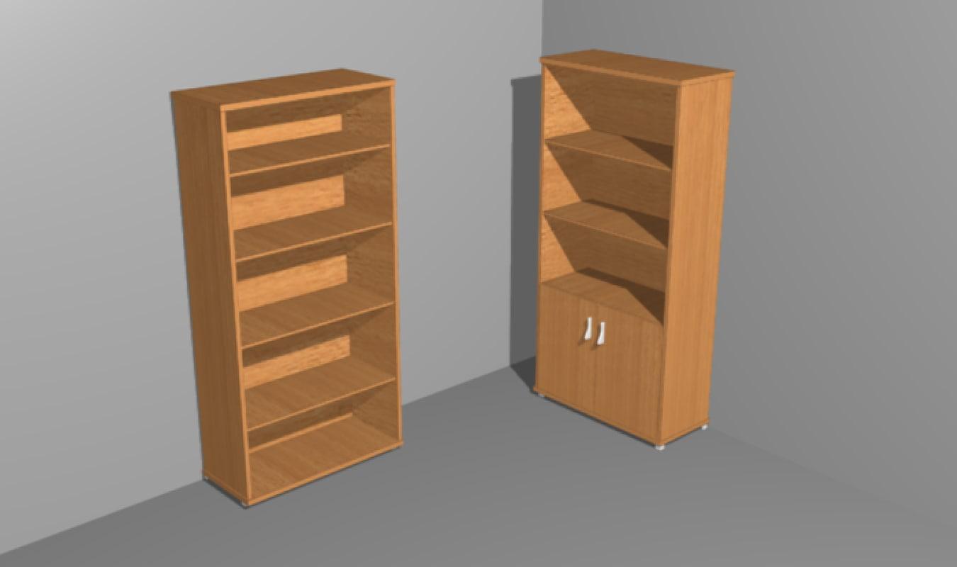 3d model room shelves