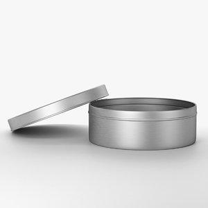 3d model metal tin 2