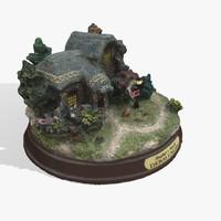 free fbx model small miniature house