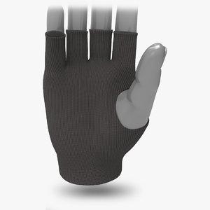 fingerless gloves mitt 3d max