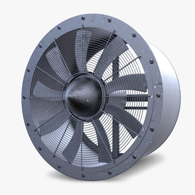 3d industrial large fan model