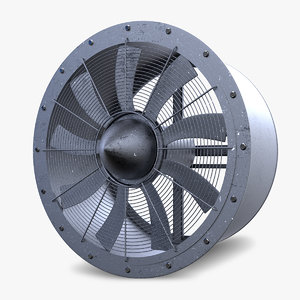 3d industrial large fan model