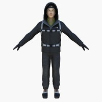 man male human 3d model