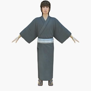 boy japanese summer 3d model