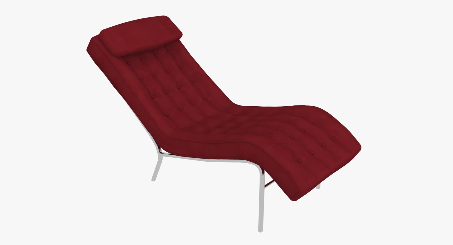 modern chaise lounge chair 3d model