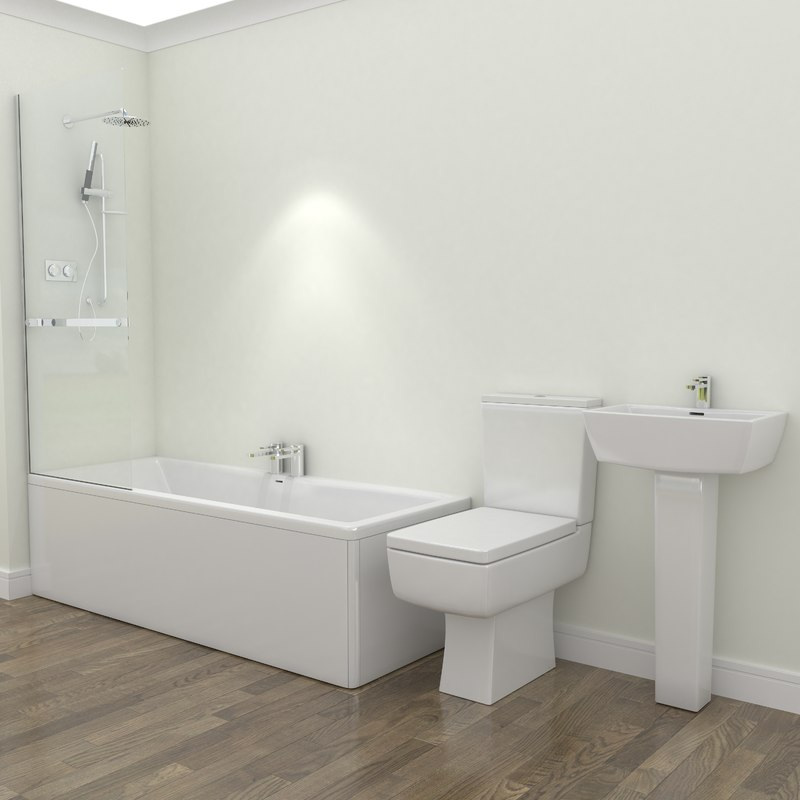 3d bathroom suite bath