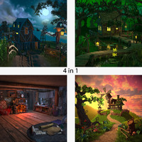 farm cartoon scene landscape 3d model