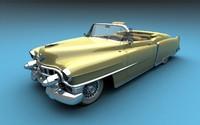 cadillac 1954 convertible 3d max