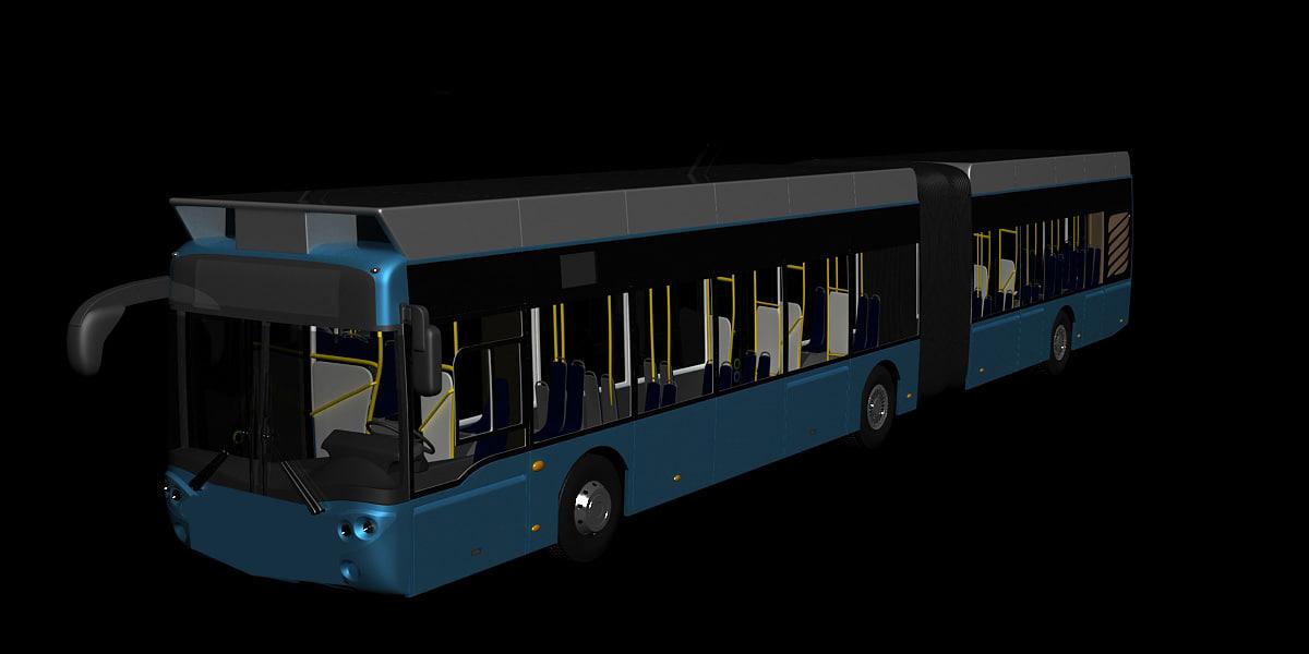 3d model city bus 16