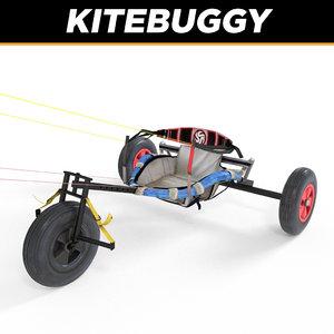 3d model kite buggy