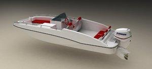 deck boat engine 3d model