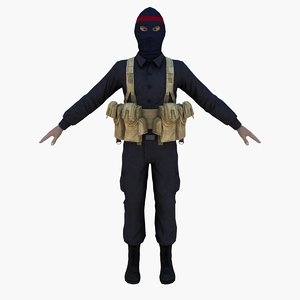 militia iranian 3d max