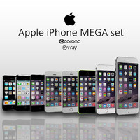 3d apple iphone mega set model