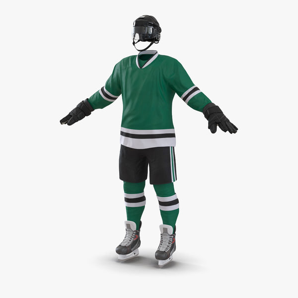 hockey equipment generic 3d max