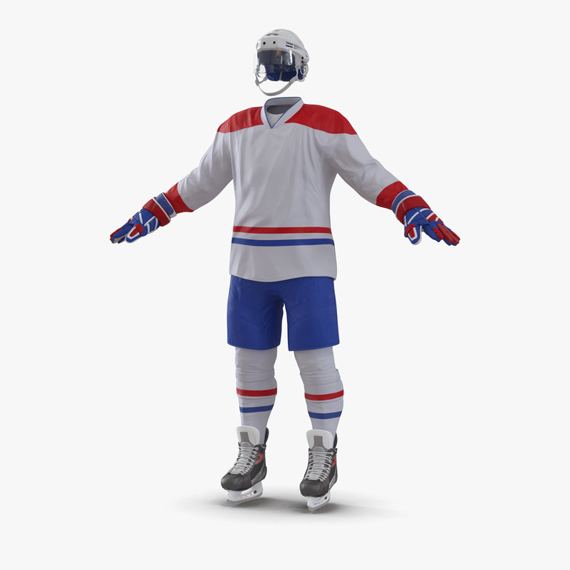 3d model hockey equipment generic 4