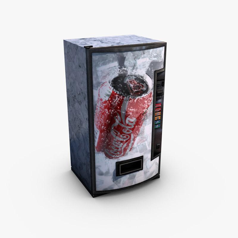vending machine coca-cola 3d model