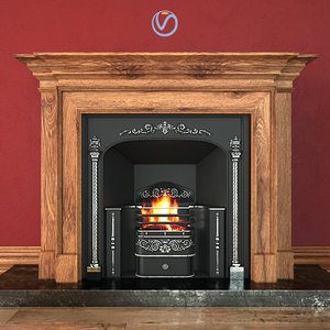 3d model regency hob grate fireplace