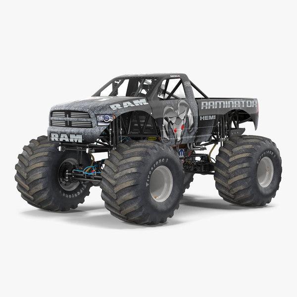 3d monster truck raminator