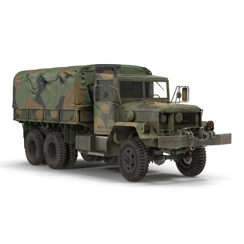 military cargo truck m35a2 3d 3ds