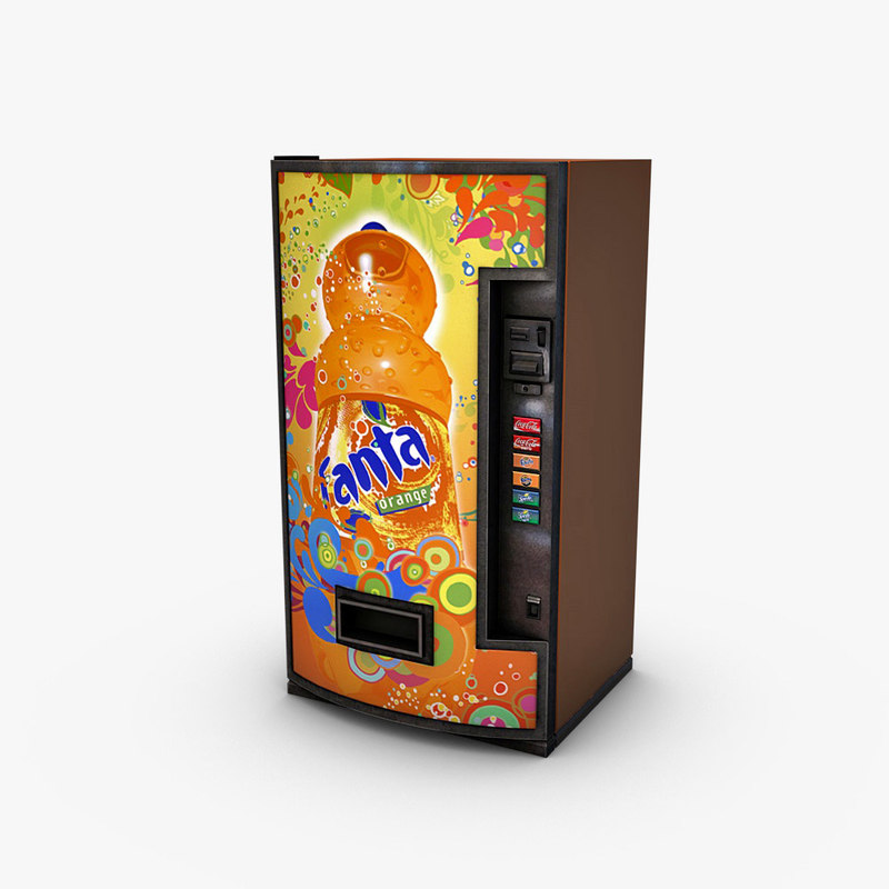 3d vending machine fanta