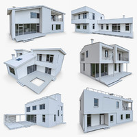 Modern Cottage Houses-6 Pack