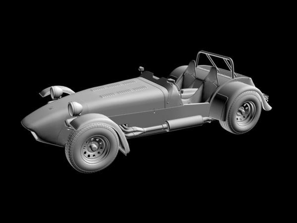 3d caterham roadster