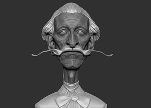 aristocrat lord head 3d model