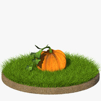 3d 3ds cartoon pumpkin
