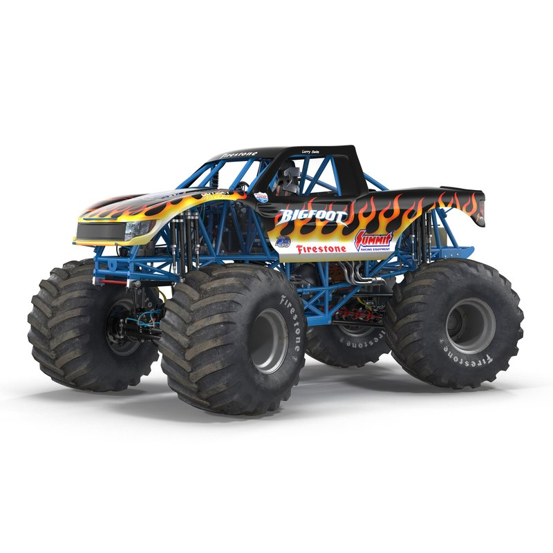 monster truck bigfoot rigged max