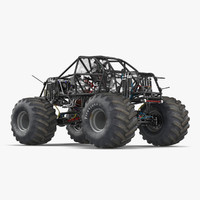Monster Truck Bigfoot 2 3D Model