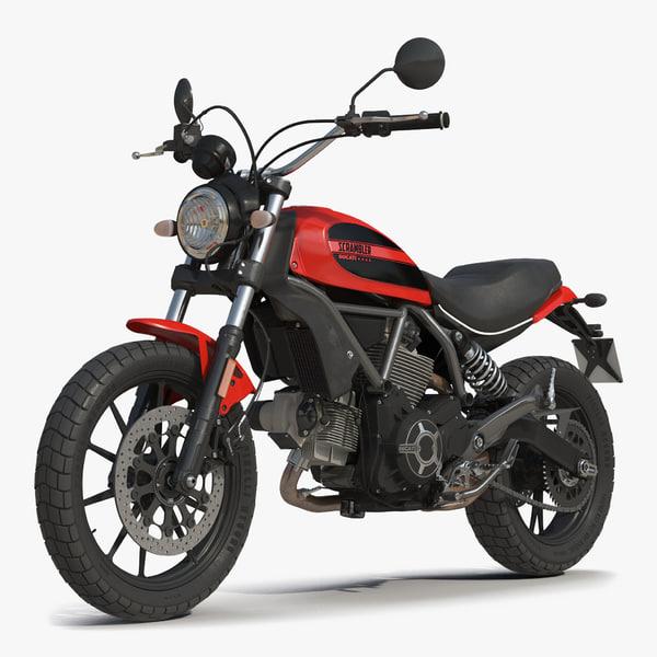 3d motorcycle ducati scrambler sixty2 model